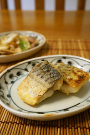 お弁当に☆塩鯖のガーリック焼きの写真