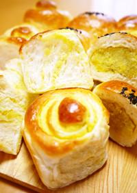 収穫の秋♪さつま芋ちぎりパン(HB生地)