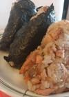 焼鮭の残りで☆てんかすと鮭のおにぎり☆