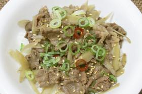簡単♪牛肉とごぼうのピリ辛牛丼