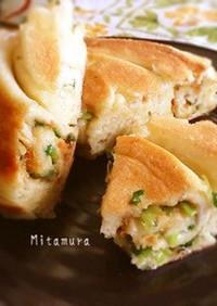 台湾風の葱と田麩の平焼きパン