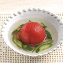 まるごとトマトの洋風煮びたし