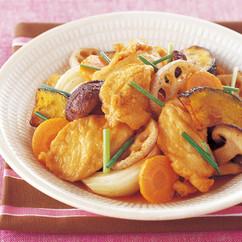 鶏むね肉と彩り野菜のさっぱり揚げびたし