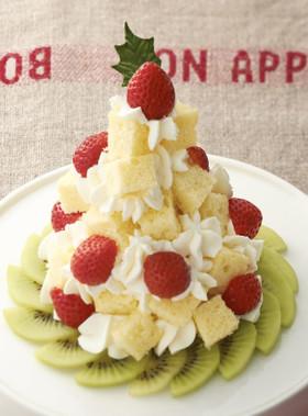 簡単クリスマスツリーケーキ