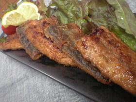 ♪秋刀魚のカリカリスパイシー焼き~♪