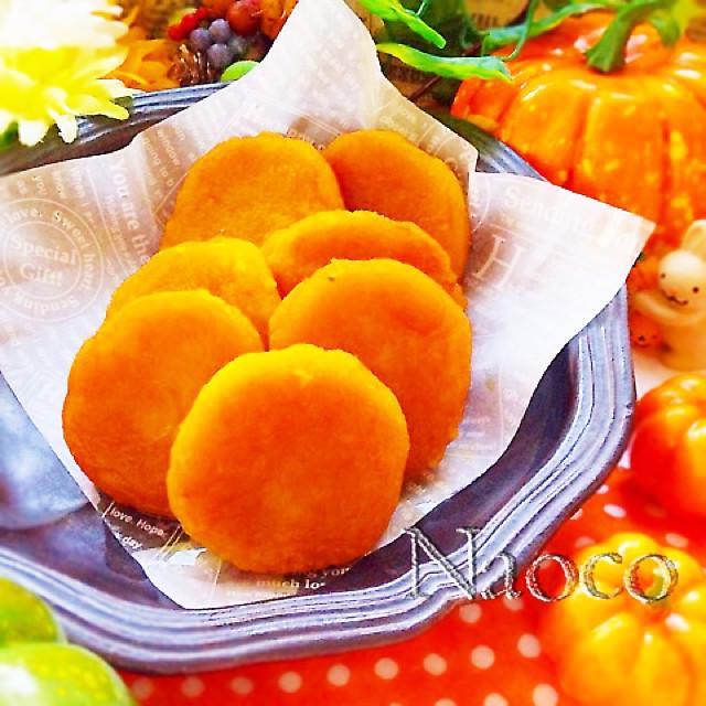 おやつやお弁当に☆簡単!かぼちゃ芋餅
