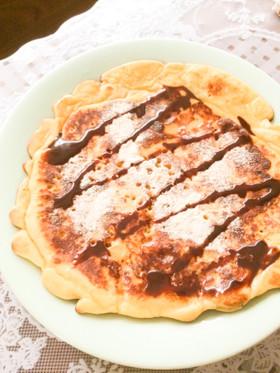 落雁パンケーキ、ココナッツオイルで焼こ!