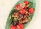 カリカリ豚肉と野菜のぽん炒め