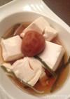 レンジで簡単!梅湯豆腐