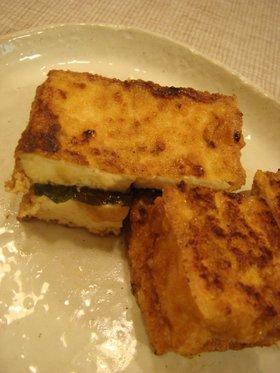 大葉にんにく醤油で厚揚げ&チーズ