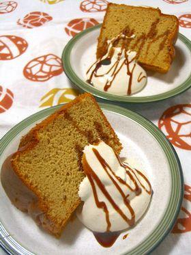 ほっこり*きな粉シフォンケーキ