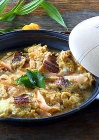 焼あなごと甘酢生姜の卵とじ