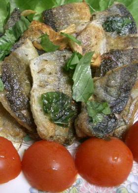 秋刀魚のバジル風味焼き