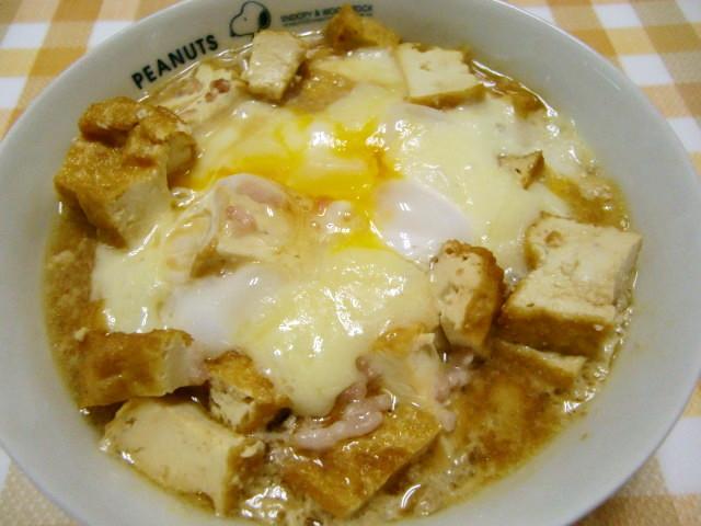 ★糖質制限*厚揚げと挽肉のチーズ卵とじ*