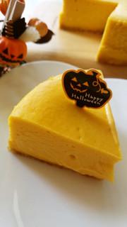 ベイクドパンプキンチーズケーキの写真