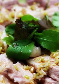 ダッチオーブンで香味ソースの厚切り雲白肉