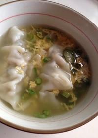 たまごスープの素を使って簡単餃子スープ!