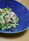 ゴーヤ(白菜)と鮭缶(ツナ缶)炒め