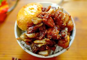 簡単♪キノコ入り魯肉飯(ルーローハン)