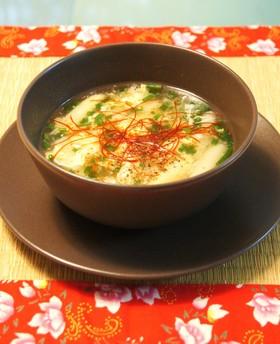 蟹とホワイトアスパラのスープ