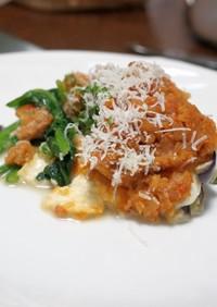 野菜とモッツァレラチーズのオーブン焼き