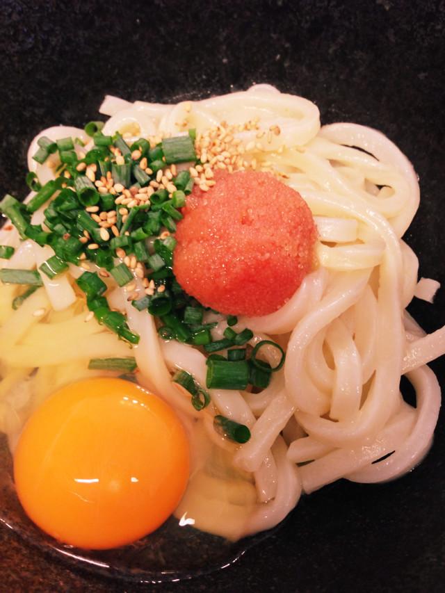 3分ランチ!冷凍うどん☆明太釜玉➕卵ご飯