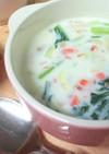 ほっこり♪鮭と小松菜のミルクスープ