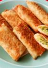 ひき肉とキャベツのチーズ春巻きカレー風味