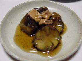 ナスと豚肉のあんかけ煮