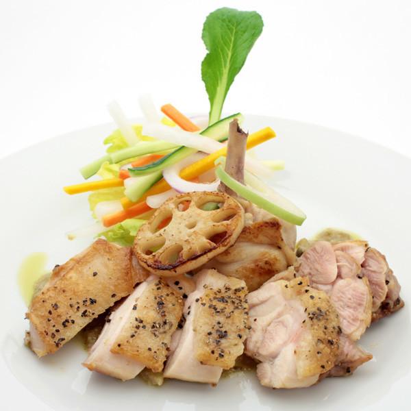阿波尾鶏&鳴門レンコンのステーキ