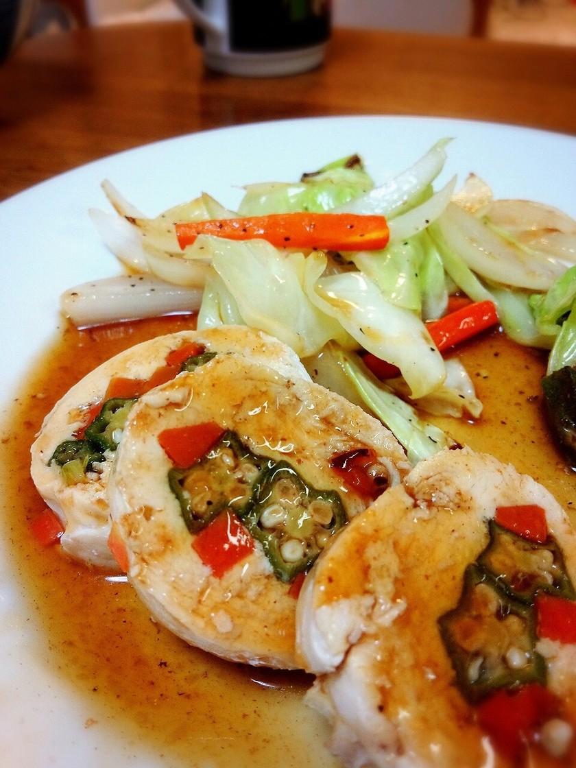 鶏胸肉のヘルシー野菜巻き