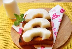 ジューシーな梨トースト。