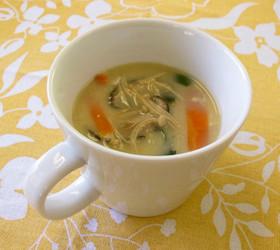キノコたっぷり中華風スープ