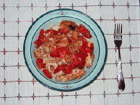 若鶏と完熟トマトのスパゲッティー
