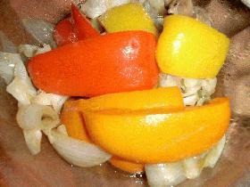洋野菜で和風マリネ