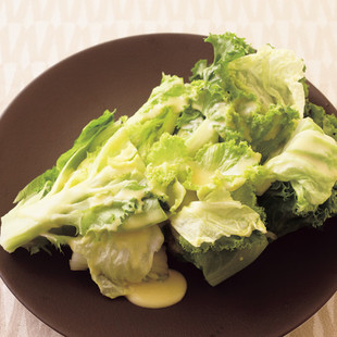 リーフレタスと白菜のサラダ