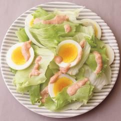 レタスと卵の明太サラダ