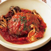 トマトソースハンバーグ