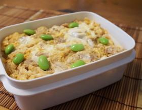 麺つゆで簡単☆親子丼弁当