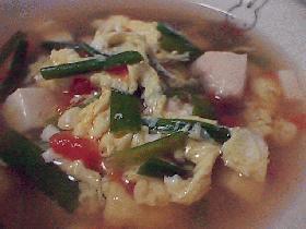 食べるスープ☆中華風具沢山トマトスープ