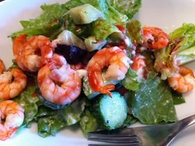 海老とブドウのフランボワーズ風味のサラダ