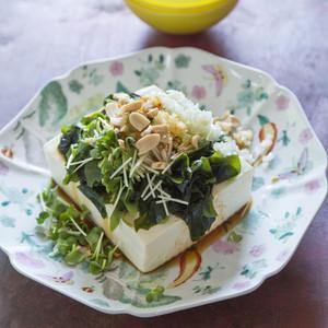 中華ドレ 豆腐とわかめのサラダ