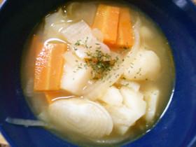 玉ねぎ じゃがいも 人参の 簡単スープ♪