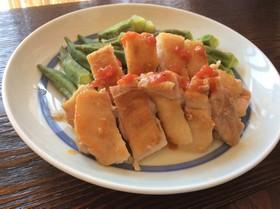 簡単♬塩トマトでがっつり鶏もも肉