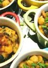 ヒヨコマメと黒&緑オリーブの炒め煮