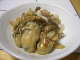 牡蠣と白葱の炒めもの