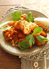 簡単◎秋の味覚の鶏とフルーツシナモン