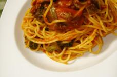 お店の味☆なすとほうれん草のスパゲティ