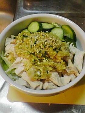 ネギタレと茹で鳥のサラダ