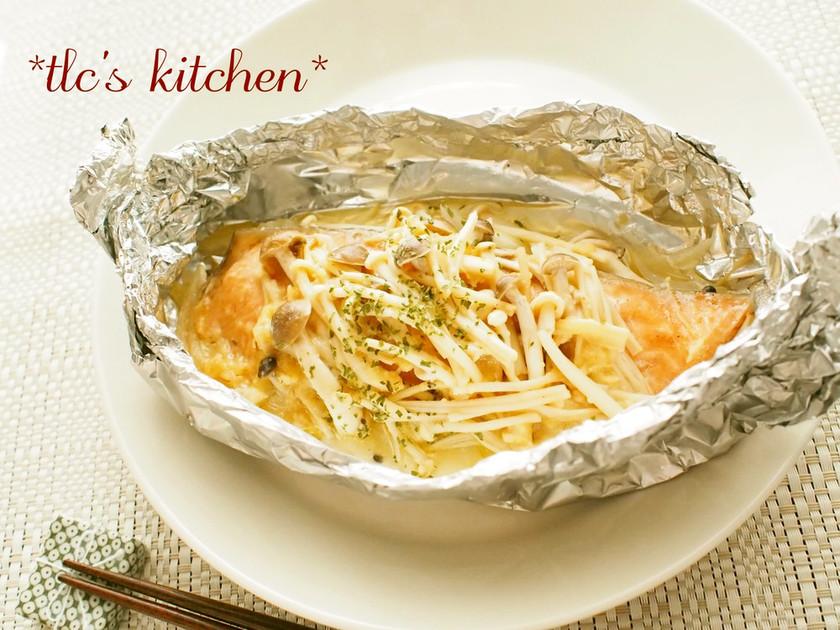 ●鮭ときのこの味噌バターホイル焼き●